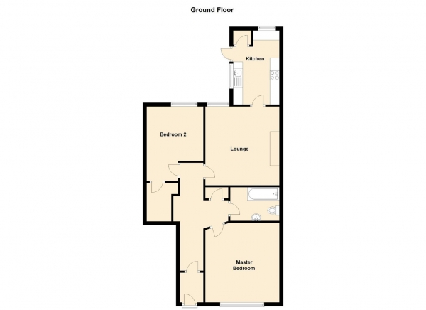Floor Plan Image for 2 Bedroom Ground Flat for Sale in Hyde Terrace, Gosforth, Newcastle Upon Tyne