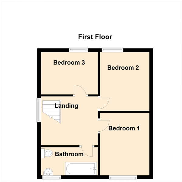 Floor Plan Image for 3 Bedroom Semi-Detached House for Sale in Kenton Road, Newcastle Upon Tyne