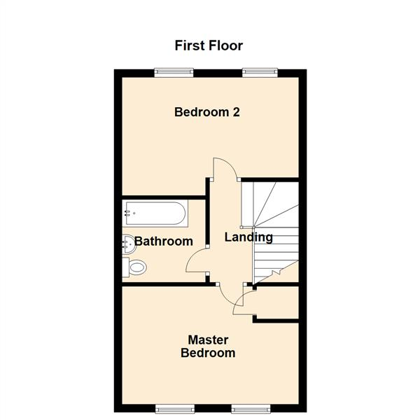 Floor Plan Image for 2 Bedroom Terraced House for Sale in Chester Pike, Newcastle Upon Tyne