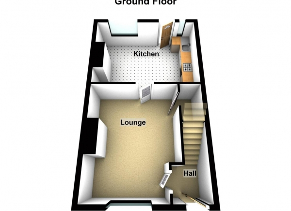 Floor Plan Image for 2 Bedroom Terraced House for Sale in Agnes Maria Street, Newcastle Upon Tyne