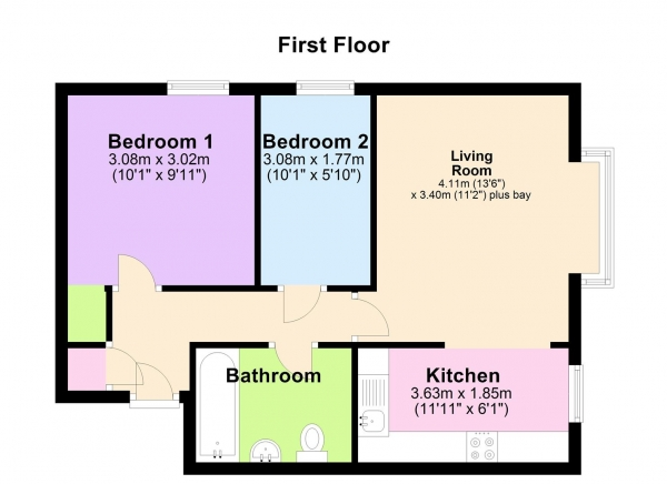 Floor Plan Image for 2 Bedroom Apartment for Sale in Wilson Road, Reading