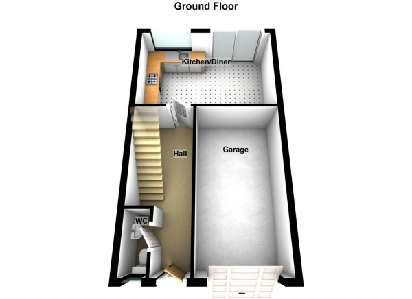 Floor Plan Image for 4 Bedroom Town House for Sale in White Swan Close, Killingworth, Newcastle Upon Tyne