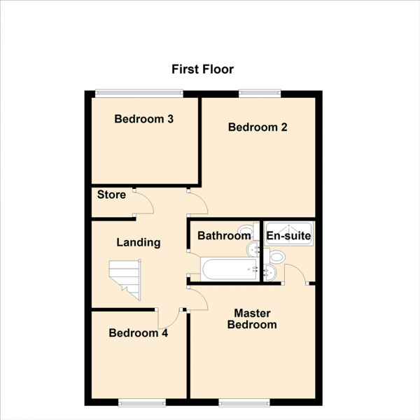 Floor Plan Image for 4 Bedroom Detached House for Sale in Miller Close, Newcastle Upon Tyne