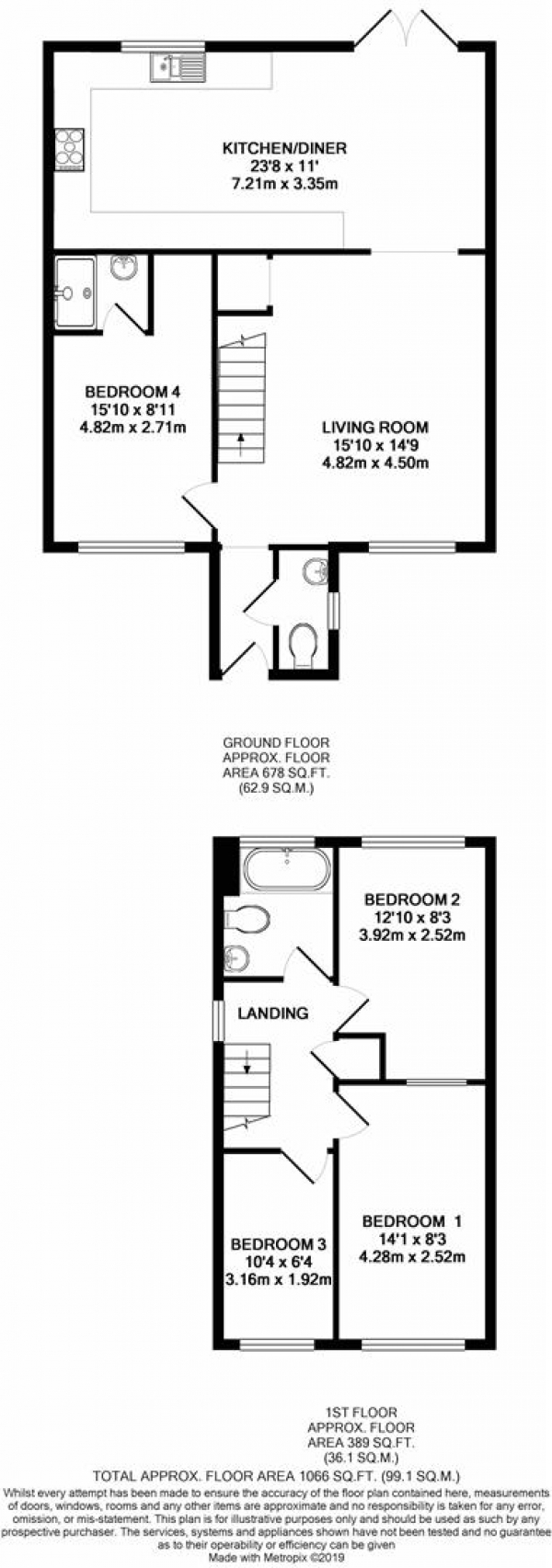 Floor Plan Image for 4 Bedroom Property for Sale in Stainby Close, West Drayton