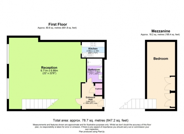 Floor Plan Image for 1 Bedroom Flat to Rent in Brilliant Property close to Warwick Avenue Tube