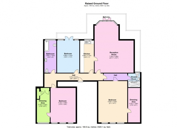 Floor Plan Image for 4 Bedroom Flat to Rent in STUNNING FOUR BED, IN THE HEART OF ST JOHNS WOOD