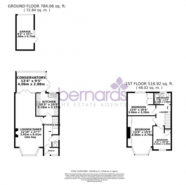 Floor Plan Image for 3 Bedroom Semi-Detached House for Sale in Old Manor Way, Drayton