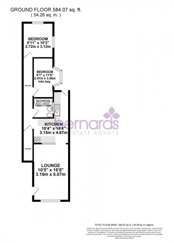 Floor Plan Image for 2 Bedroom Flat for Sale in New Road, Portsmouth