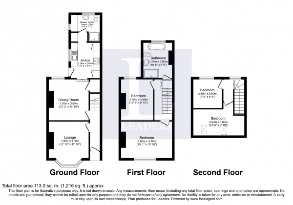 Floor Plan Image for 4 Bedroom Detached House to Rent in Satchell Lane, Hamble, Southampton