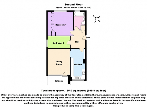 Floor Plan Image for 2 Bedroom Apartment to Rent in Blyth Road, Bromley, BR1