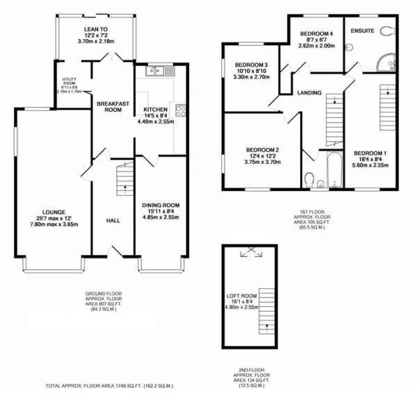 Floor Plan Image for 4 Bedroom Detached House for Sale in Haslucks Green Road, Solihull, West Midlands, B90
