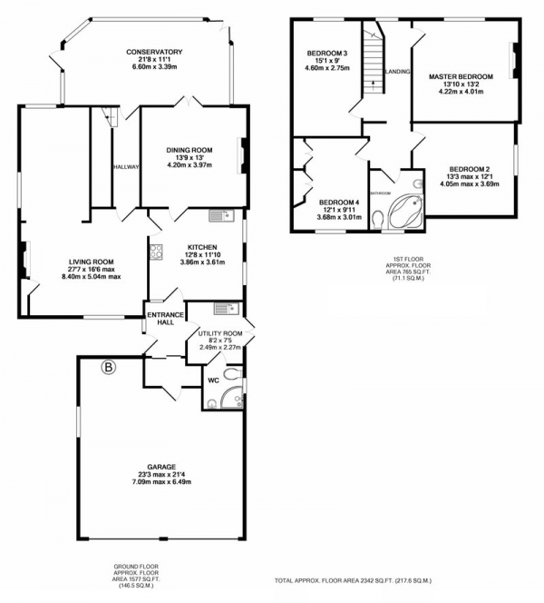 Floor Plan Image for 4 Bedroom Detached House for Sale in Shiregate, Lincoln, Lincolnshire, LN4