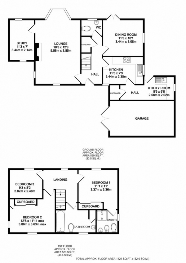 Floor Plan Image for 3 Bedroom Detached House for Sale in Farriers Courtyard, Lincoln, Lincolnshire, LN1