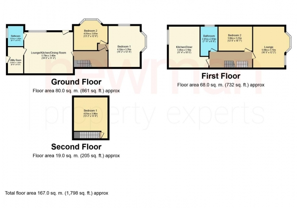 Floor Plan Image for 4 Bedroom End of Terrace House for Sale in Marlborough Road, Coventry
