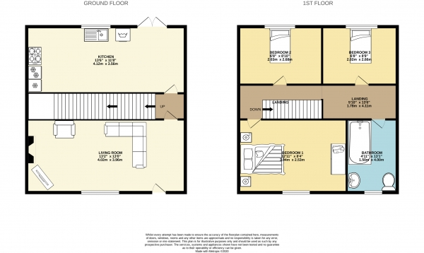 Floor Plan Image for 3 Bedroom Terraced House to Rent in Napier Street, Hazel Grove, Stockport