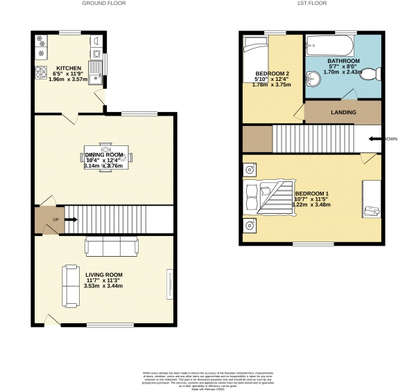 Floor Plan Image for 2 Bedroom Terraced House to Rent in Ladysmith Street, Shaw Heath