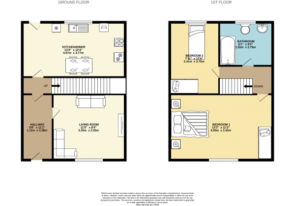 Floor Plan Image for 2 Bedroom Semi-Detached House to Rent in Countess Street, Heaviley, Stockport