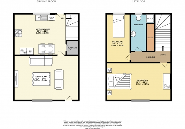Floor Plan Image for 2 Bedroom Terraced House to Rent in Cale Street, Cale Green