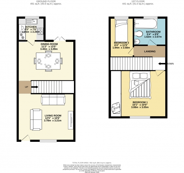 Floor Plan Image for 2 Bedroom Detached House to Rent in Caistor Street, Portwood