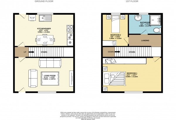 Floor Plan Image for 2 Bedroom Semi-Detached House to Rent in Grove Street, Hazel Grove, Stockport