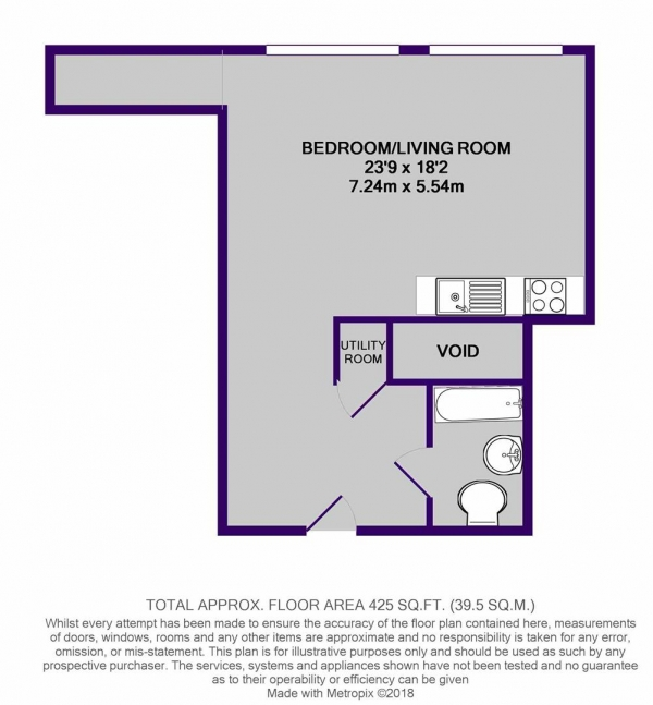 Floor Plan Image for Studio for Sale in 3 Kenyons Steps, Liverpool