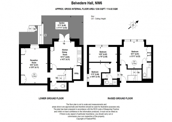 Floor Plan Image for 3 Bedroom Duplex for Sale in The Avenue, London