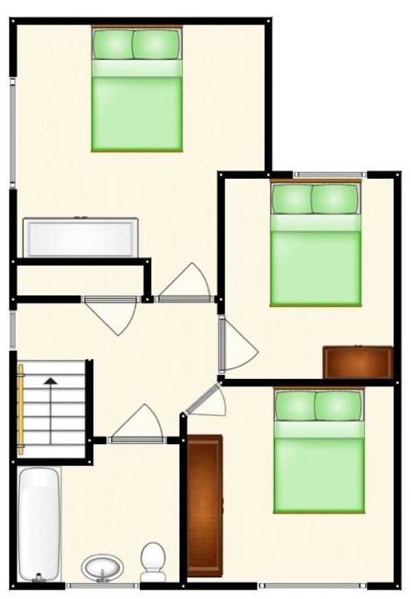 Floor Plan Image for 3 Bedroom Semi-Detached House for Sale in Gordon Road, Manchester