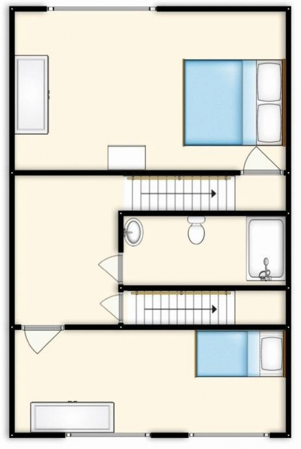 Floor Plan Image for 2 Bedroom Terraced House for Sale in Durham Close, Manchester