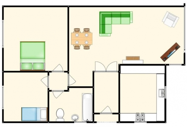 Floor Plan Image for 2 Bedroom Semi-Detached Bungalow for Sale in Outwood Avenue, Clifton, Swinton, Manchester