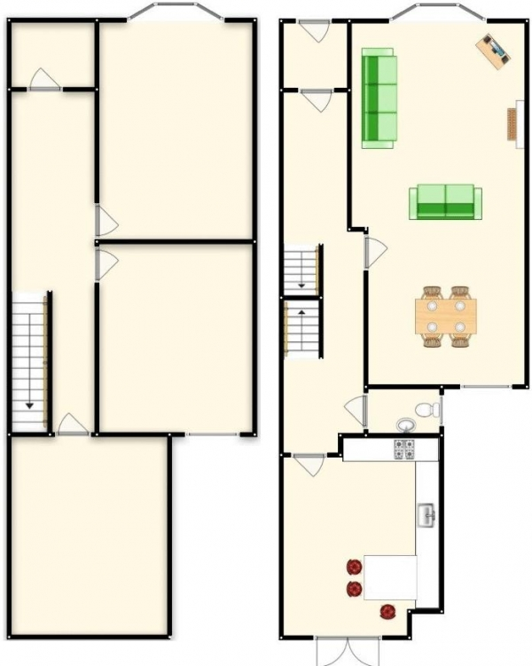 Floor Plan Image for 5 Bedroom Terraced House for Sale in Worsley Road, South-Swinton, Manchester