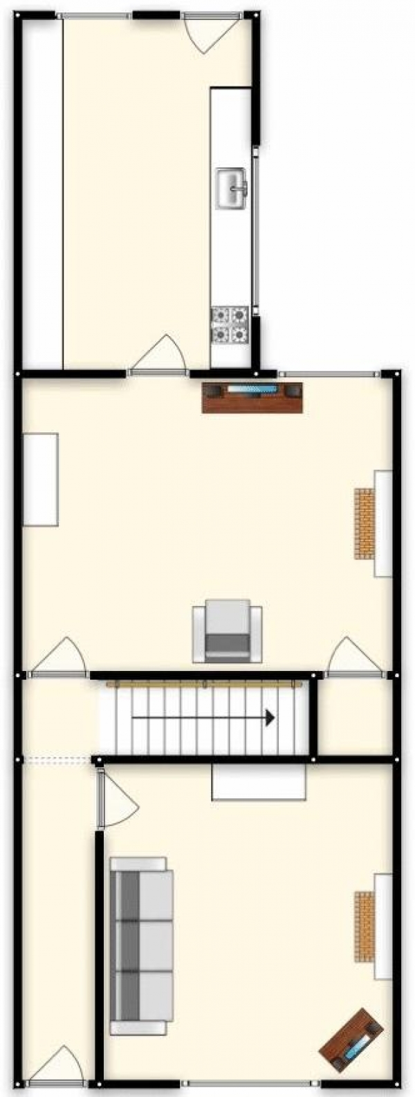 Floor Plan Image for 2 Bedroom Terraced House for Sale in Raymond Street, Manchester