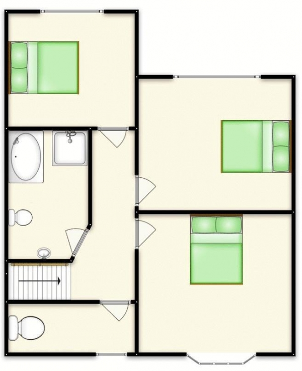 Floor Plan for 3 Bedroom Semi-Detached House for Sale in Ranelagh Road, Swinton, Salford, Pendlebury, M27, 4HQ - OIRO &pound260,000