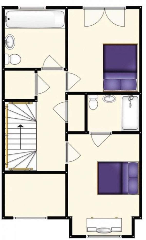 Floor Plan Image for 4 Bedroom Semi-Detached House for Sale in The Moorings, Worsley, Manchester