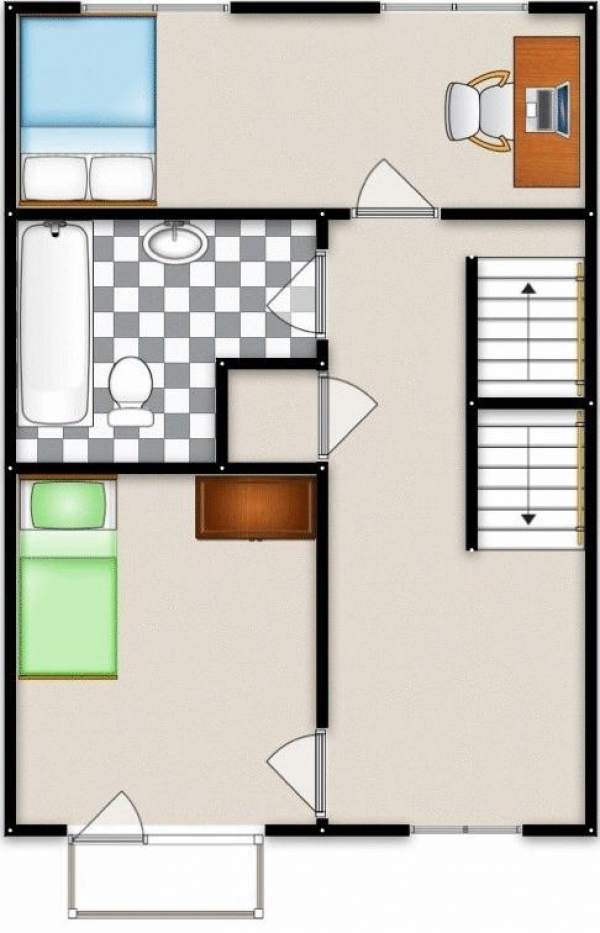 Floor Plan Image for 3 Bedroom Semi-Detached House for Sale in Queensmere Drive, Manchester