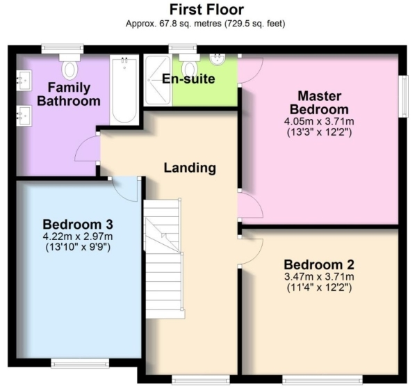 Floor Plan Image for 4 Bedroom Detached House to Rent in Broad Lane, Coventry