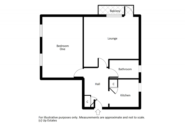 Floor Plan Image for 1 Bedroom Apartment to Rent in Tarquin Close, Coventry
