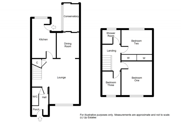 Floor Plan Image for 3 Bedroom Terraced House for Sale in Unicorn Avenue, Coventry
