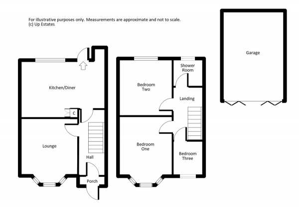 Floor Plan Image for 3 Bedroom Terraced House for Sale in Hartland Avenue, Coventry