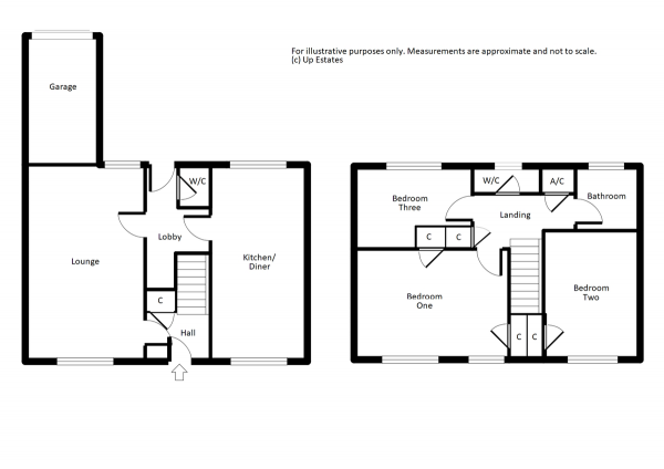 Floor Plan Image for 3 Bedroom End of Terrace House for Sale in Hampshire Close, Binley, Coventry