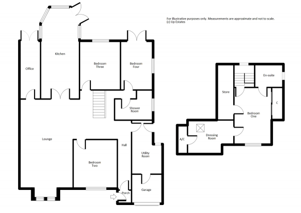 Floor Plan Image for 4 Bedroom Semi-Detached Bungalow for Sale in Oakdale Road, Binley Woods, Coventry