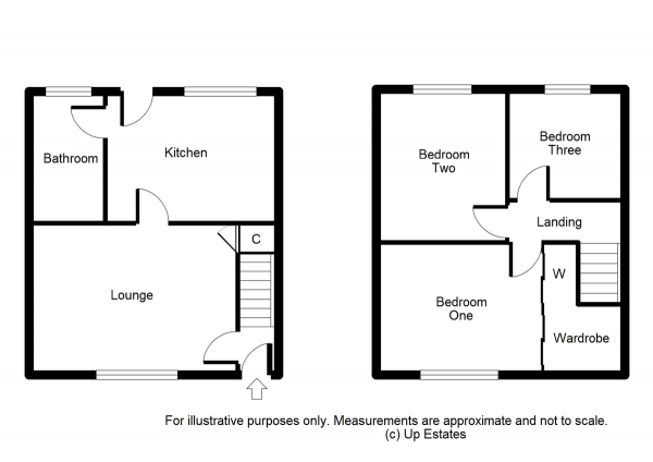 Floor Plan Image for 3 Bedroom Terraced House for Sale in Craigends Avenue, Binley, Coventry