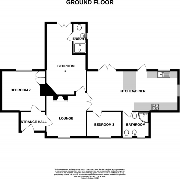 Floor Plan Image for 3 Bedroom Detached Bungalow for Sale in Blackhorse Road, Longford, Coventry