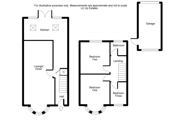 Floor Plan Image for 3 Bedroom Terraced House for Sale in Kelvin Avenue, Coventry
