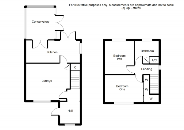 Floor Plan Image for 2 Bedroom End of Terrace House for Sale in Bartons Meadow, Coventry