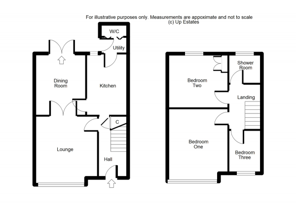 Floor Plan Image for 3 Bedroom Terraced House for Sale in Armscott Road, Coventry