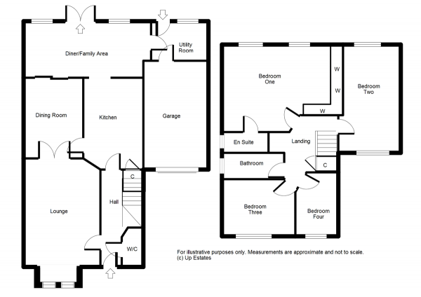 Floor Plan Image for 4 Bedroom Detached House for Sale in Rectory Drive, Exhall, Coventry