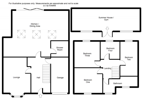 Floor Plan Image for 4 Bedroom Semi-Detached House for Sale in Grange Road, Longford, Coventry