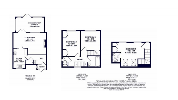 Floor Plan Image for 3 Bedroom Semi-Detached House for Sale in Cowdray Road, Hillingdon