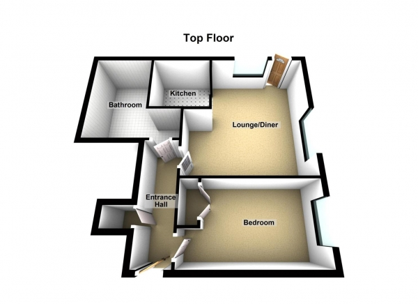 Floor Plan Image for 1 Bedroom Flat for Sale in Hammonds Drive, Peterborough