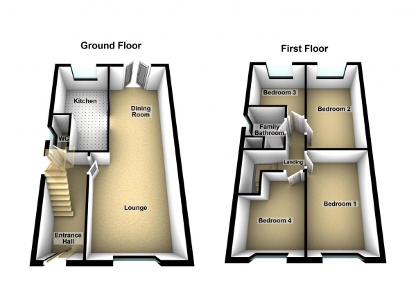Floor Plan Image for 4 Bedroom Detached House for Sale in Medeswell, Orton Malborne, Peterborough